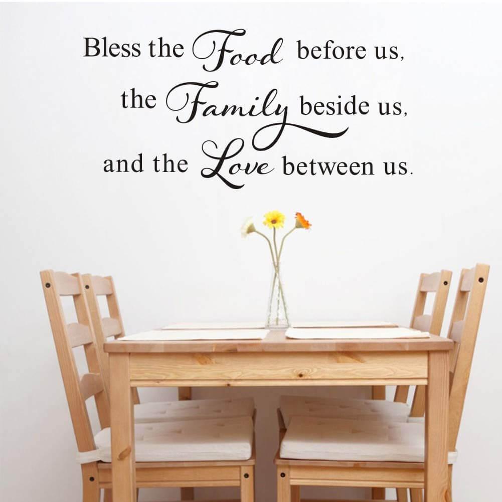 Dining Room Blessings Prayer Vinyl Sticker