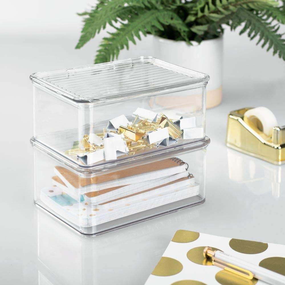 Stackable and Plastic Organizer Boxes