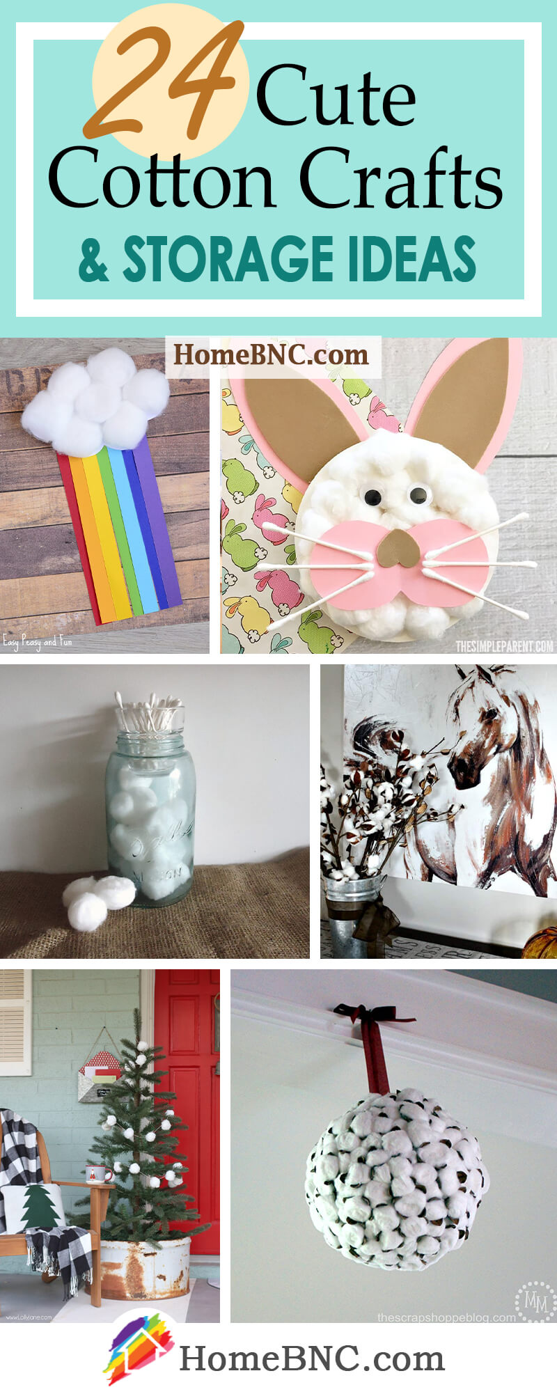24 Best Cotton Crafts For The Most Adorable Home Decorations In 2021