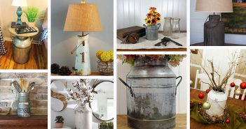 Rustic Farmhouse Milk Can Decorations