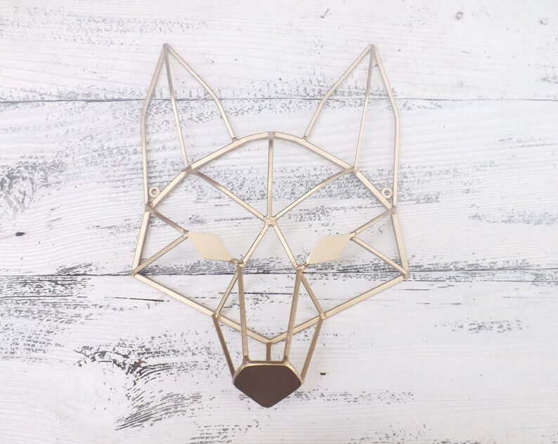 Cool Iron Geometric Fox Head