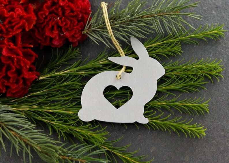 Unique Personalized Bunny Rabbit Ornament