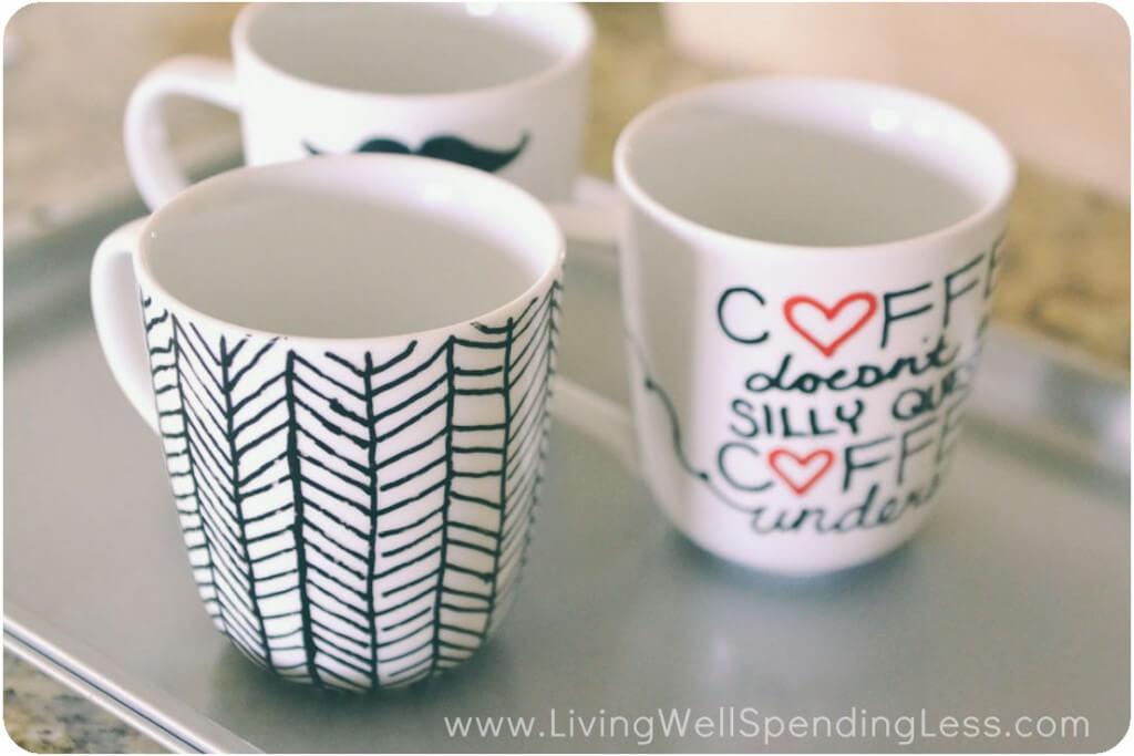 Cute and Easy Chevron Pattern Mug