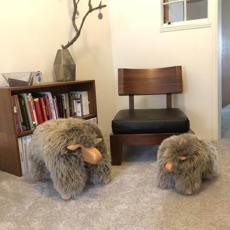 Genuine Sheepskin Animal Pal Stools