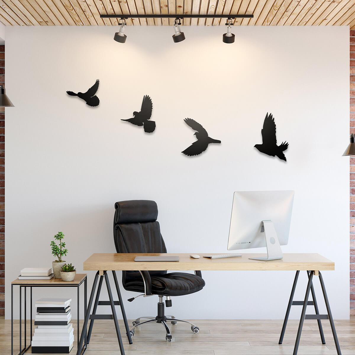 Soaring Bird Metal Wall Art