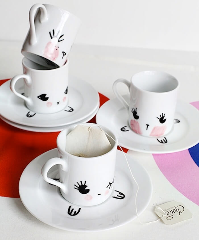 Precious Animoji Tea Cup and Saucer Design
