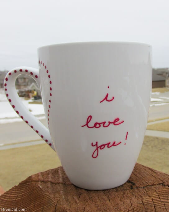 "Simple, Sentimental ""I Love You"" Mug"