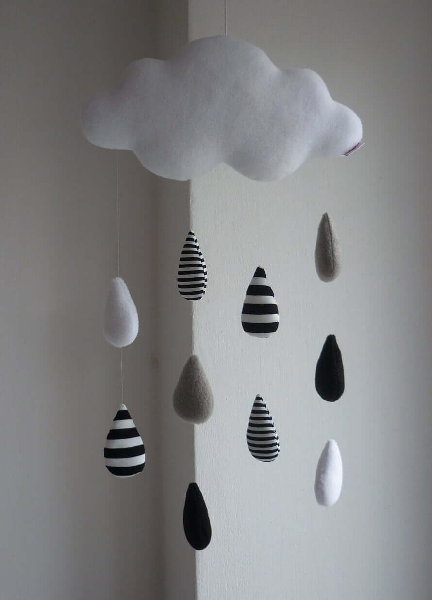 Cute Cloudy Raindrop Baby Mobile