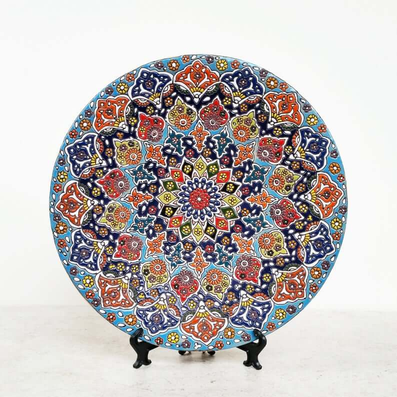 Intricate Handmade Ceramic Pottery Decor