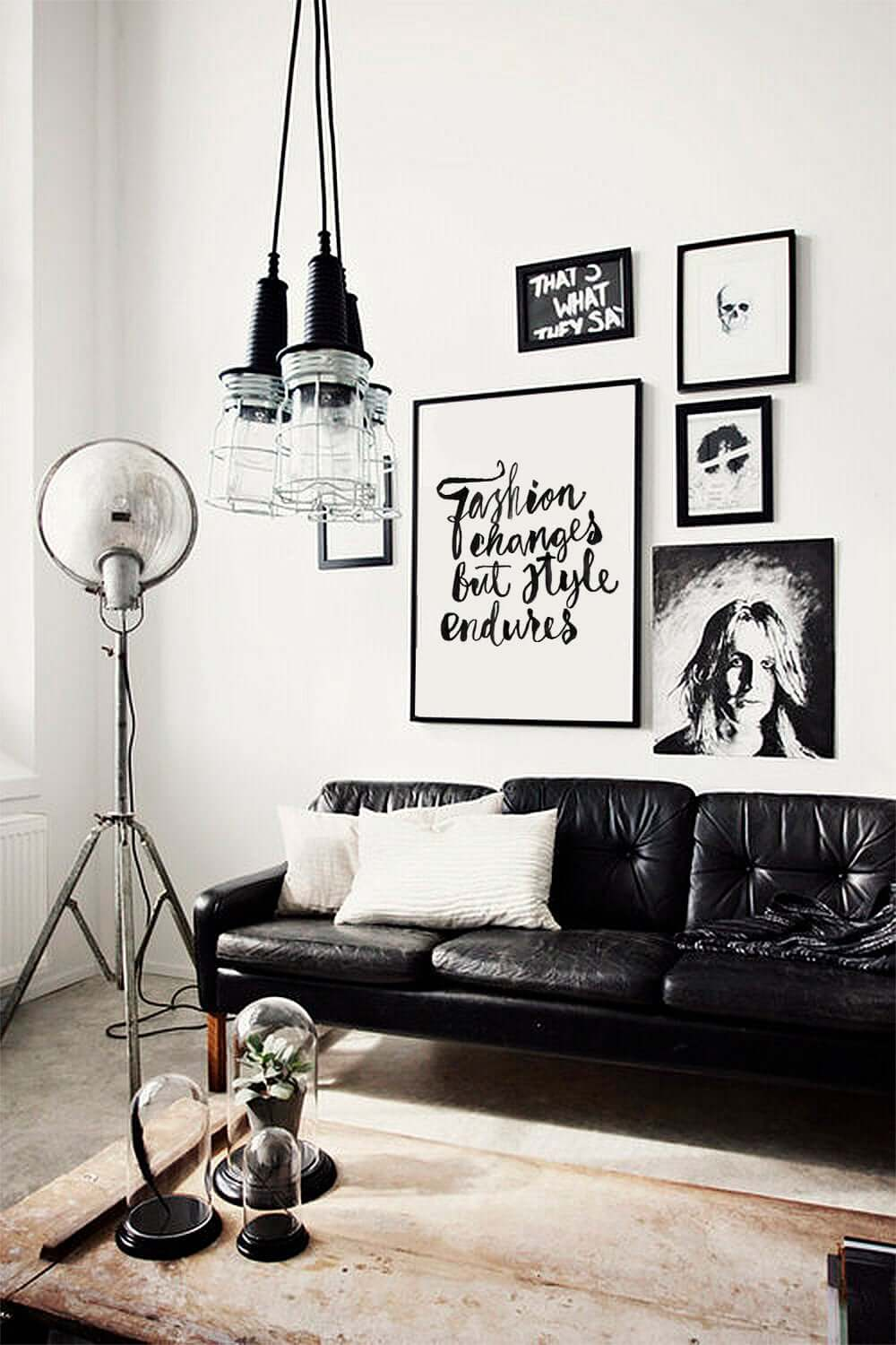Inspiring Black and White Living Area Decor