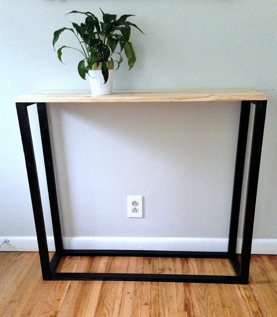 Inexpensive Modernized Wooden Console Table
