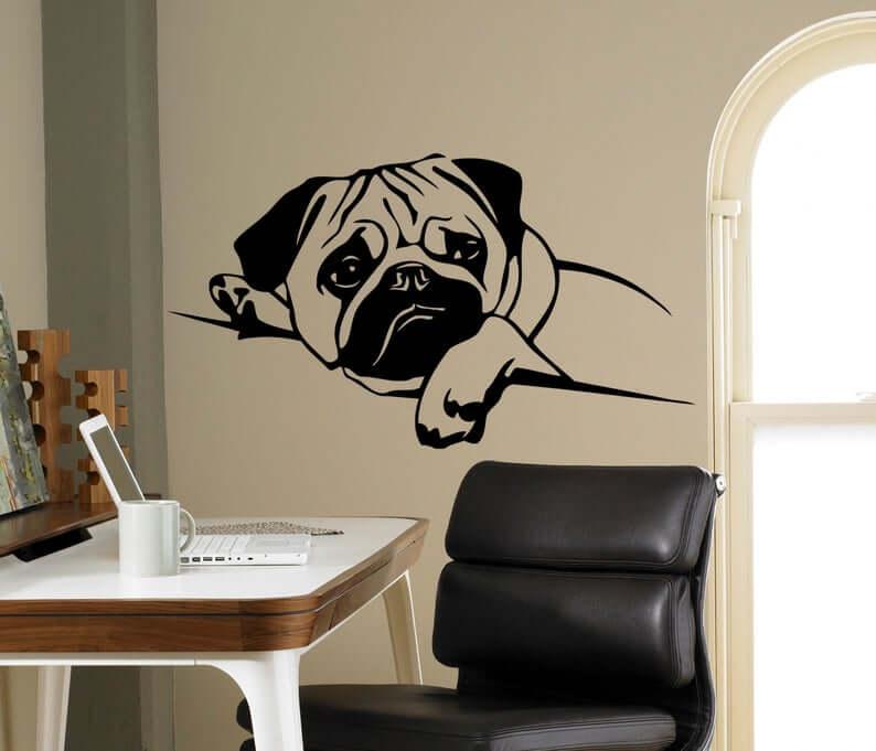 Pug Puppy Vinyl Wall Decal