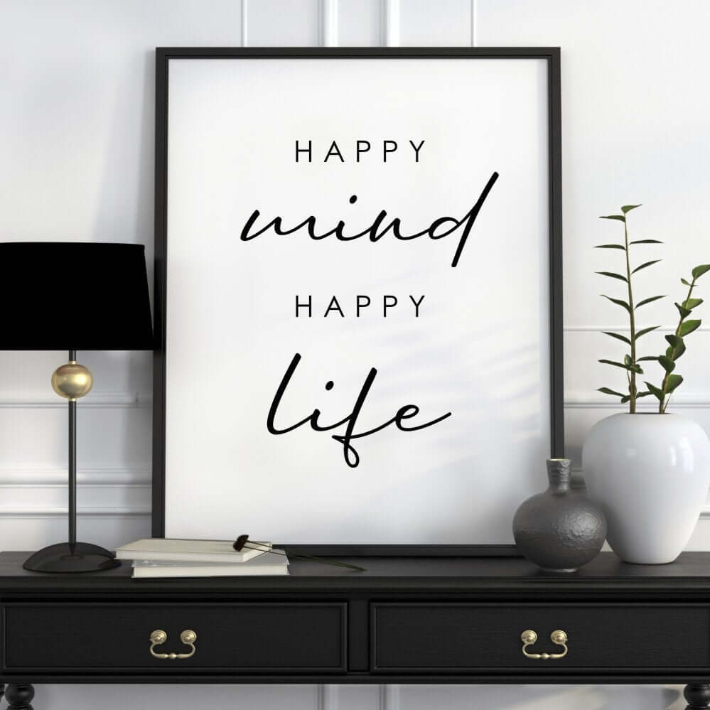 Mindfully Good Black and White Wall Art