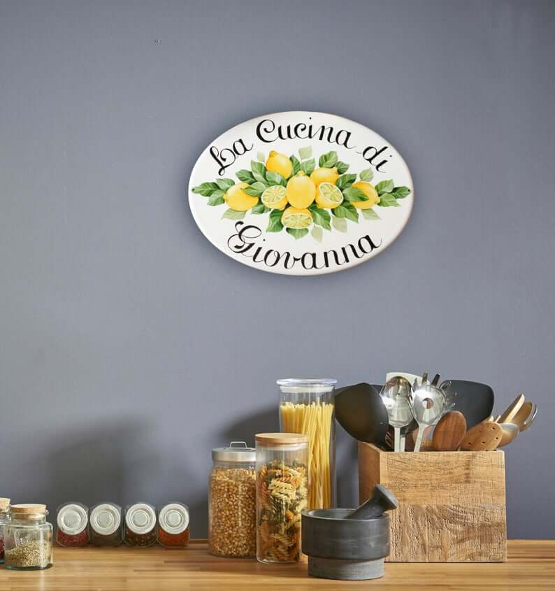 Farmhouse Style Customized Ceramic Kitchen Sign