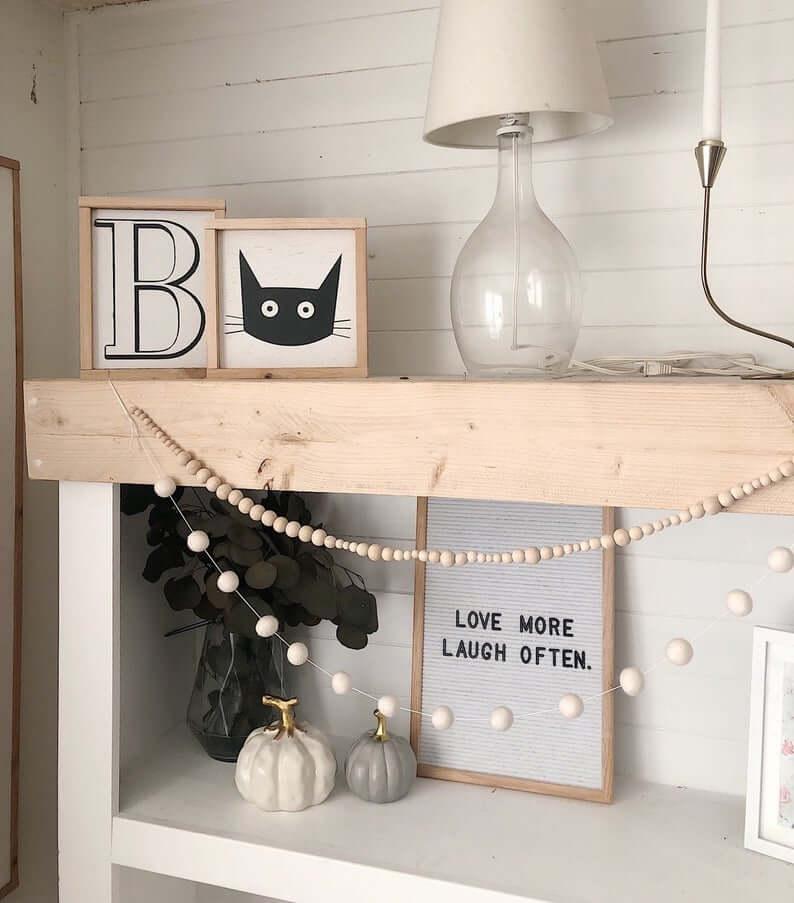Halloween-Inspired Modern Cat Wall Art