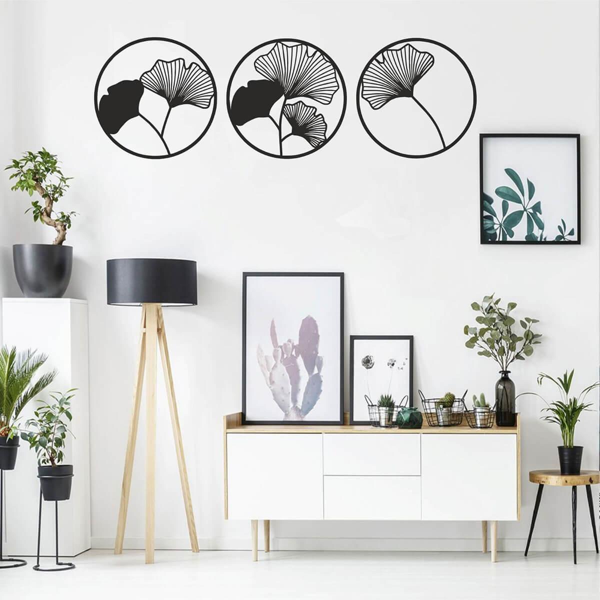 Lively Black and White Living Room