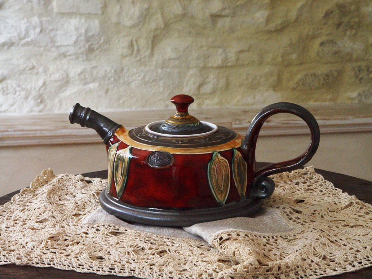 Unique Handmade Ceramic Teapot Set