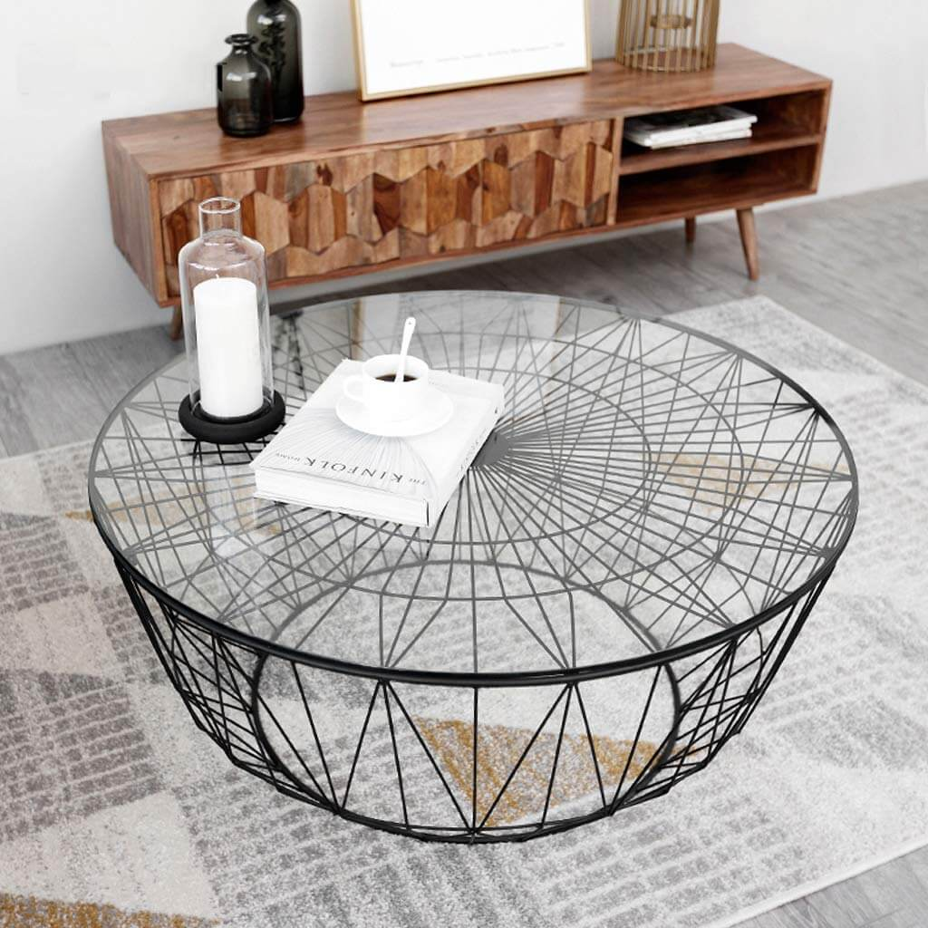 Modern Art Coffee Table as Focal Point