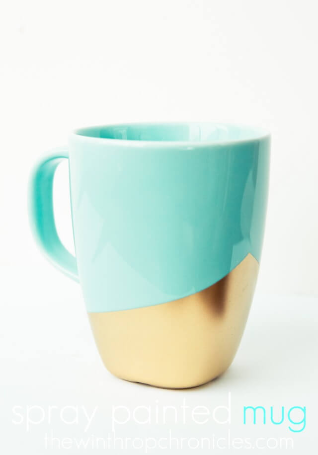 Fabulous Teal and Gold DIY Mug Design