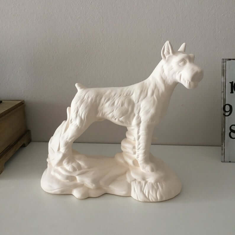 Adorable Ceramic Dog Figurine Decor