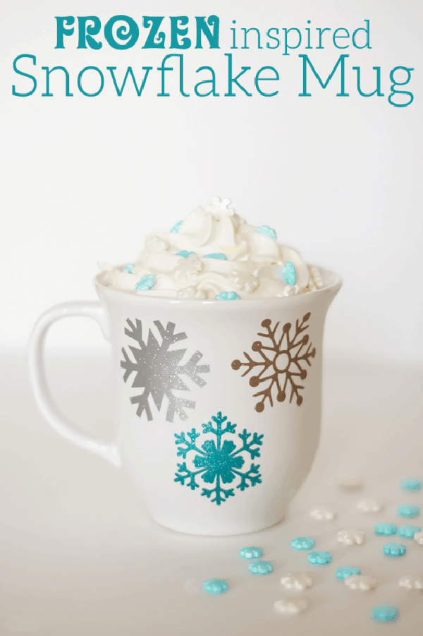 Frozen Metallic Snowflake Mug Idea
