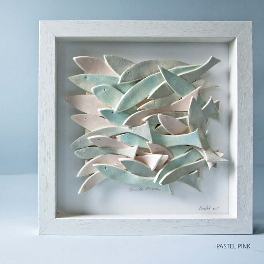 Nautical Ceramic Fish in Pastel Colors