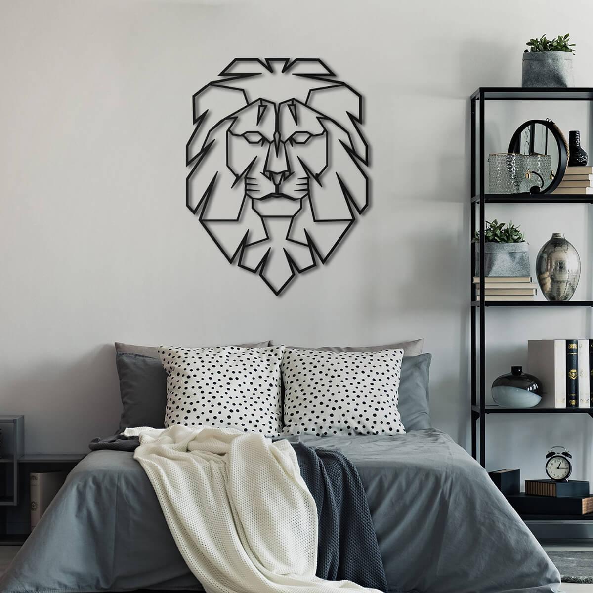 Leo Lion Head Metal Wall Art
