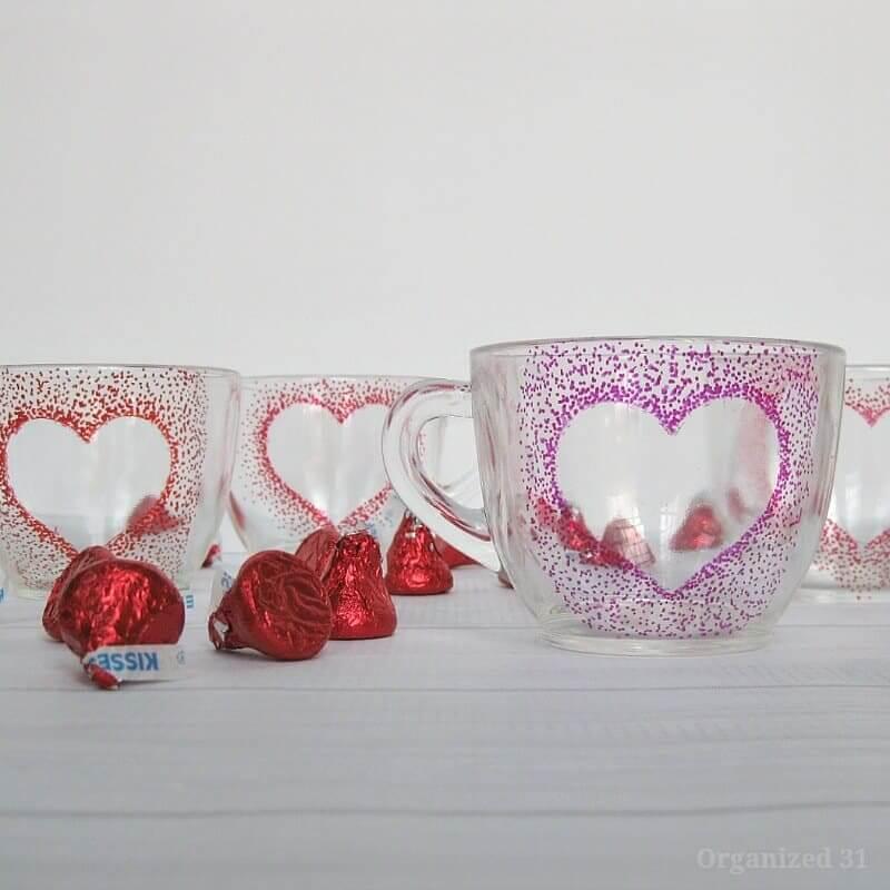 Precious Pointillism DIY Heart Mugs
