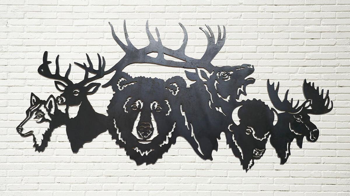Unique Animal Scene Metal Wall Art