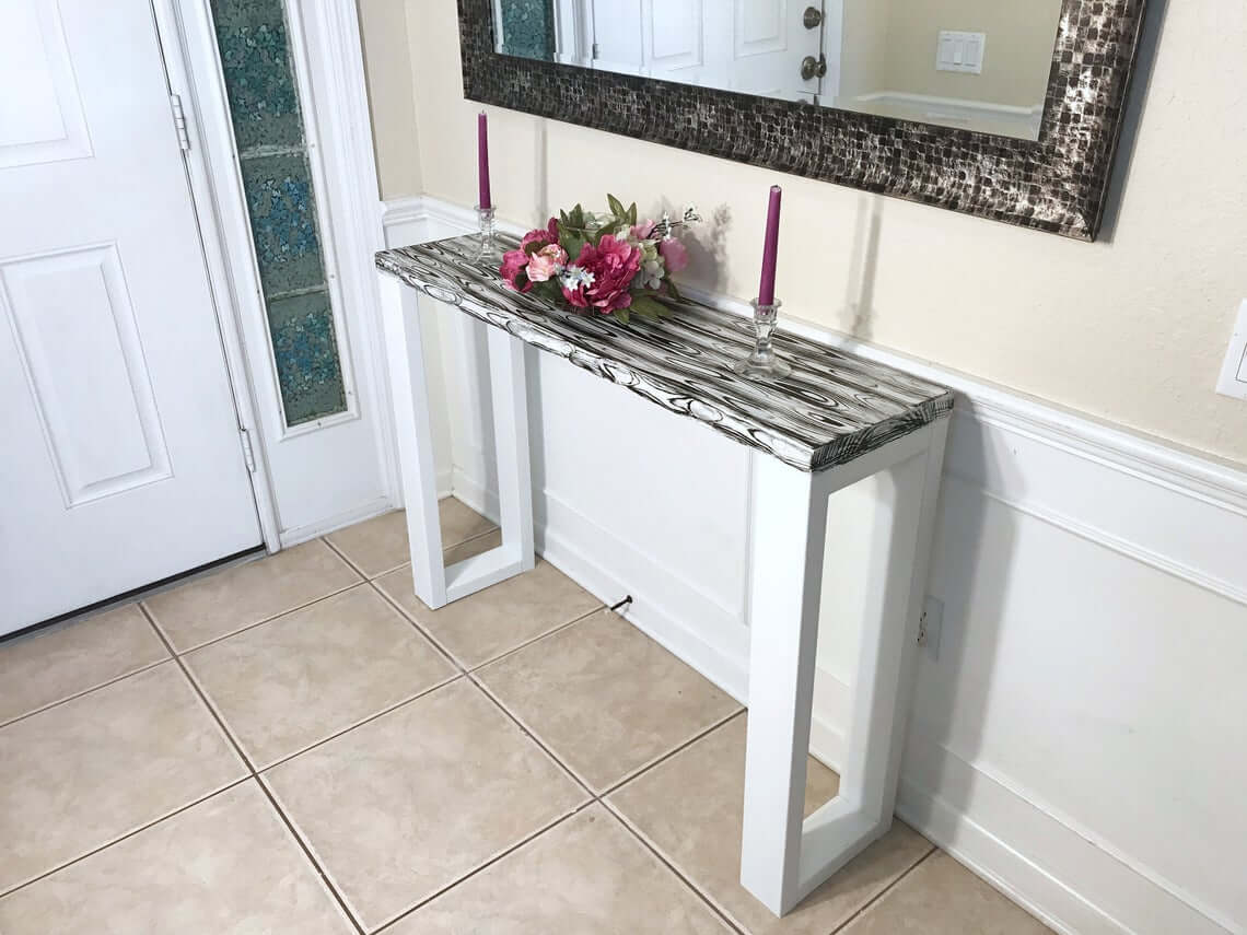 Painted Modern Farmhouse Console Table