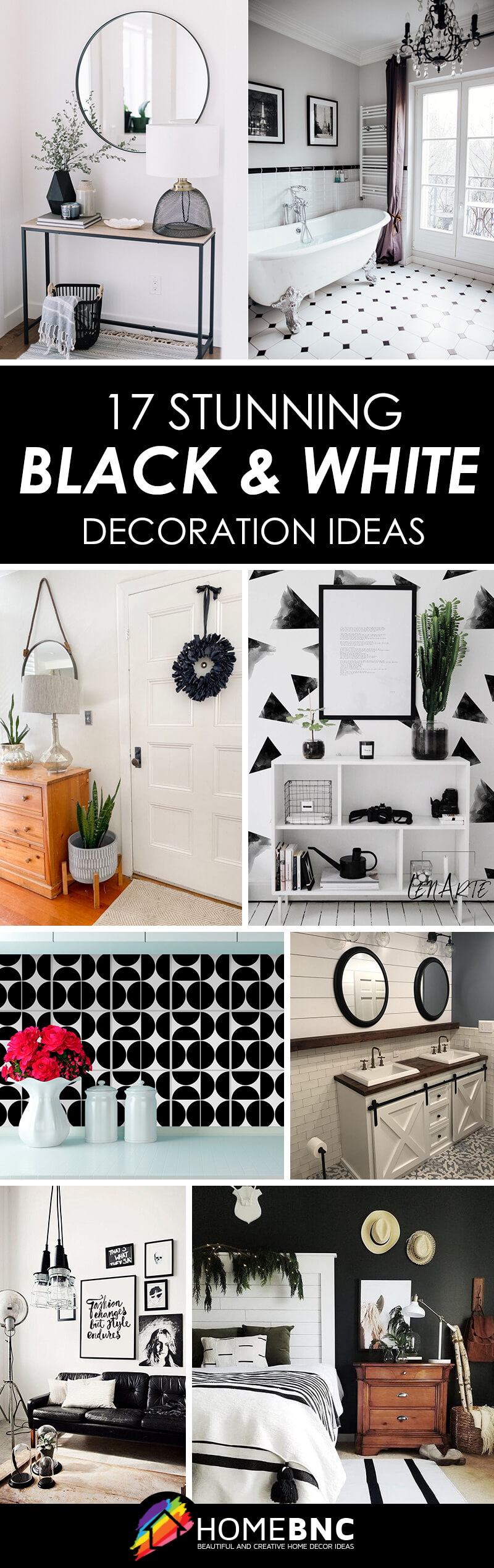Best Black and White Home Decor Ideas and Designs