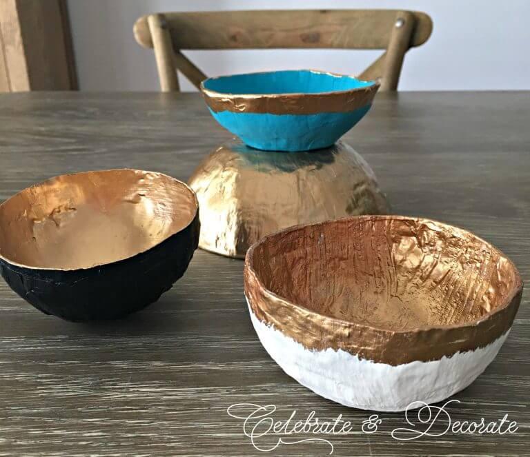 Stunning DIY Paper Mache Bowls