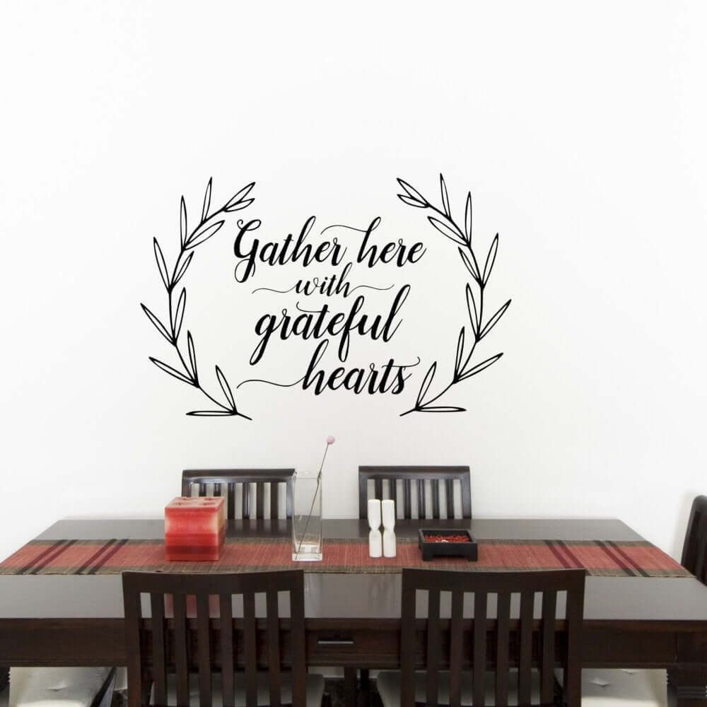 Inviting Grateful Hearts Gather Here Dining Room Sign