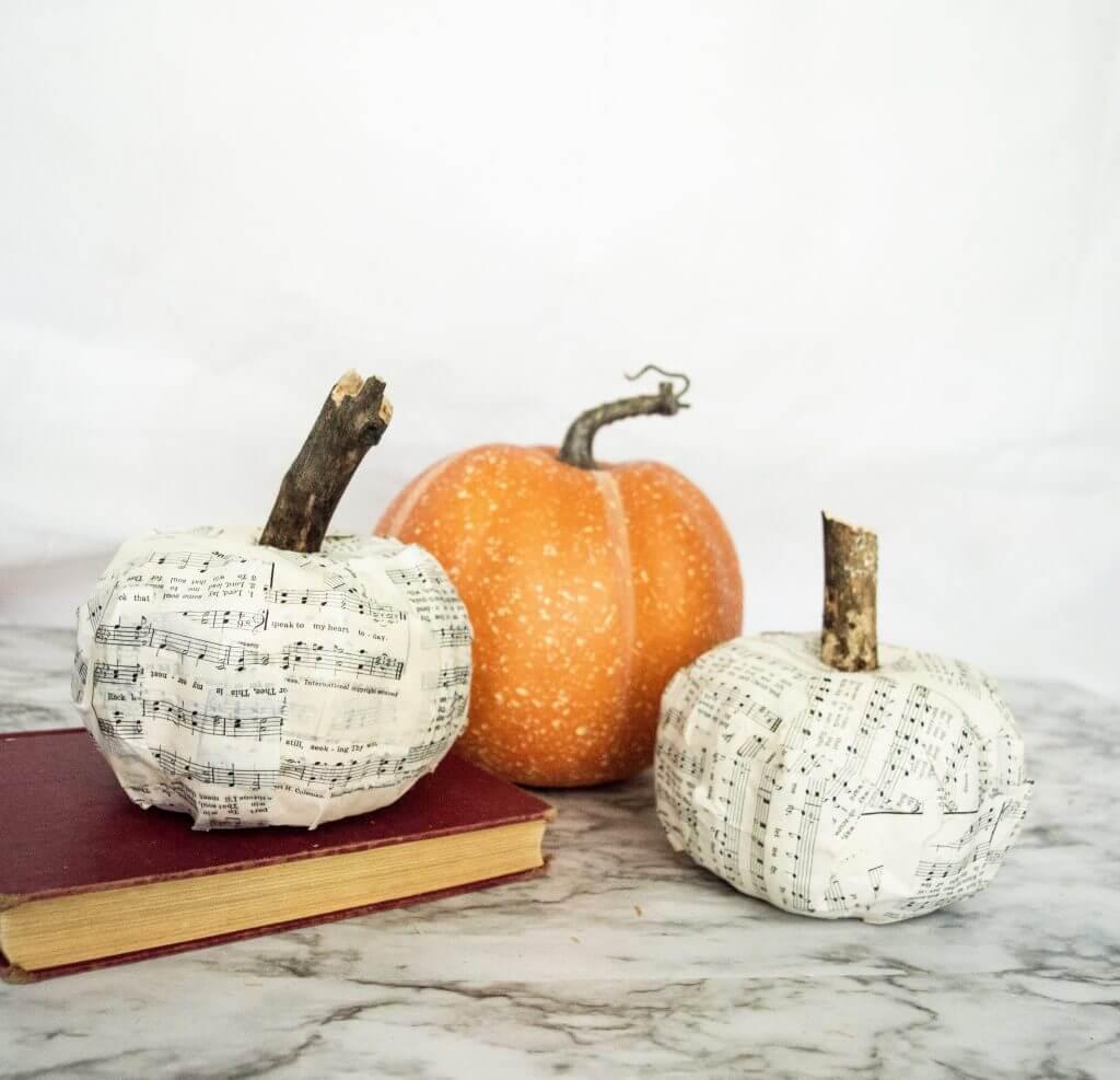 Thrifty Cool Paper Mache Pumpkins