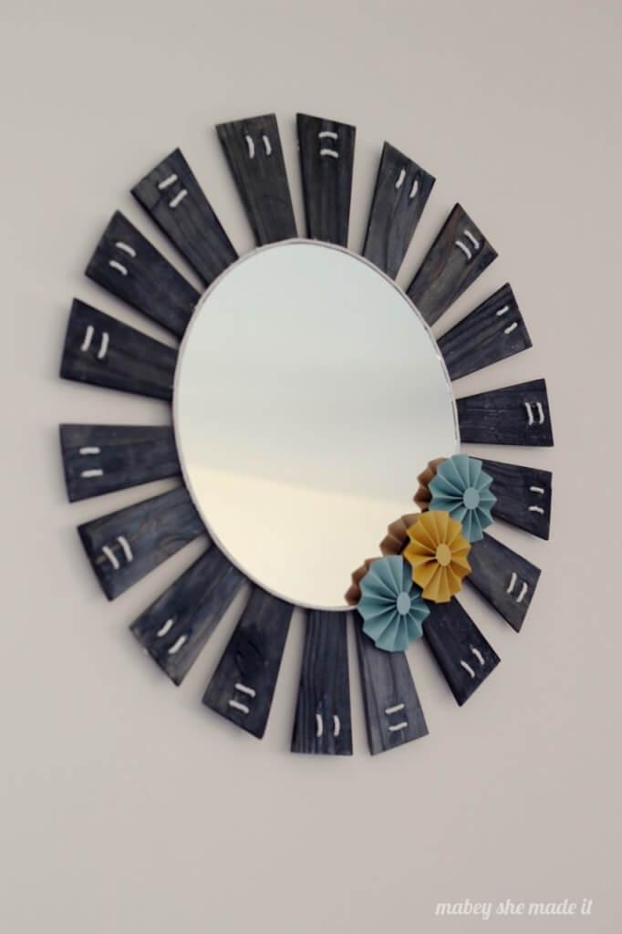 Perfect DIY Lamp Shade Sunburst Mirror