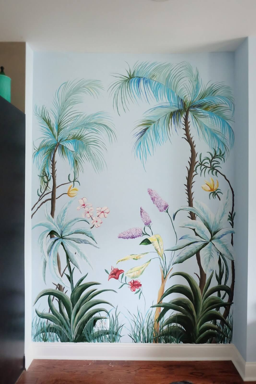 Tropical Flora and Fauna Accent Wall Art Mural