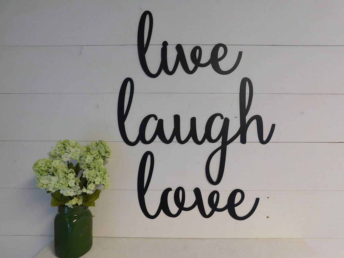 Live, Laugh, Love: Set of 3 Happy Wall Art Hangers