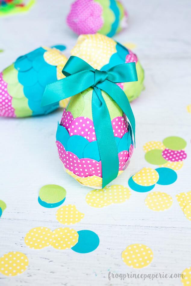 Paper Mache Easter Confetti Eggs