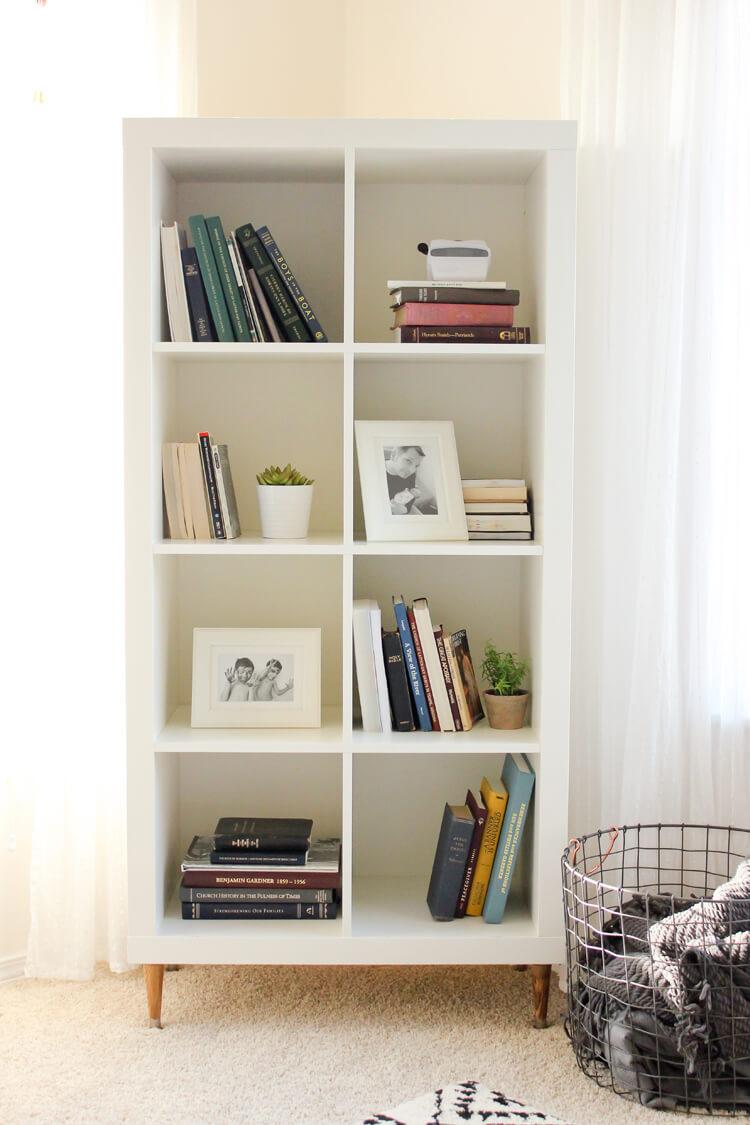 Scandinavian Inspired Minimalist Home Library
