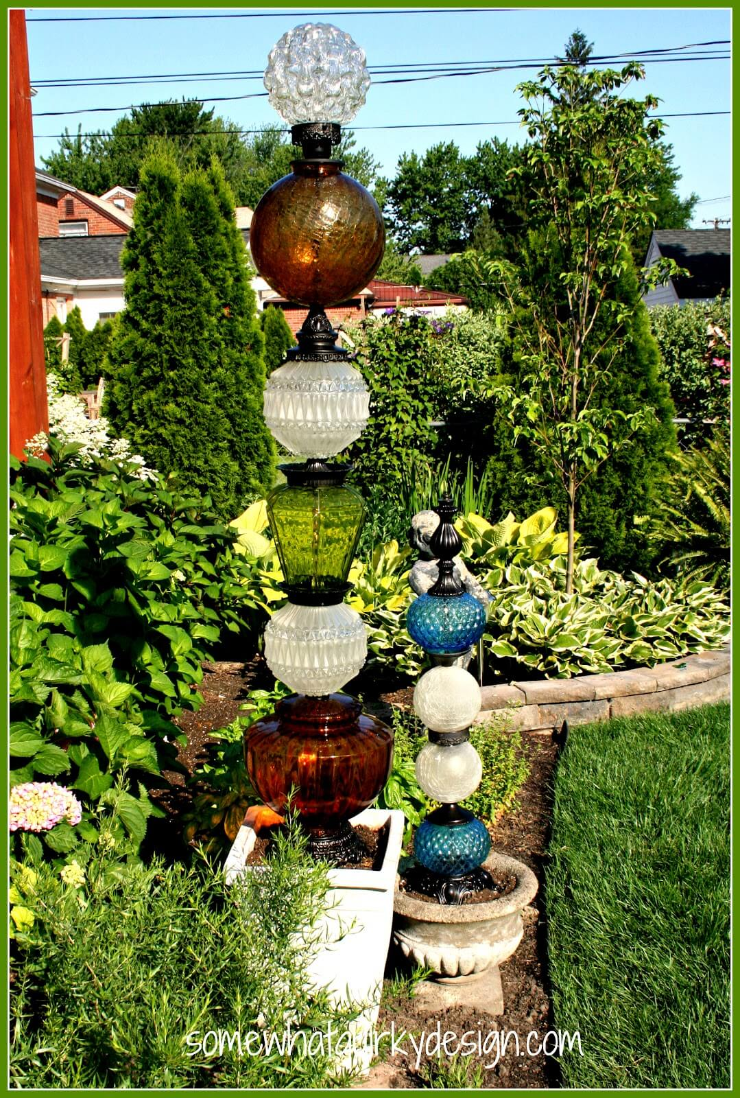Cute Retro Upcycled Glass Globe Lamps
