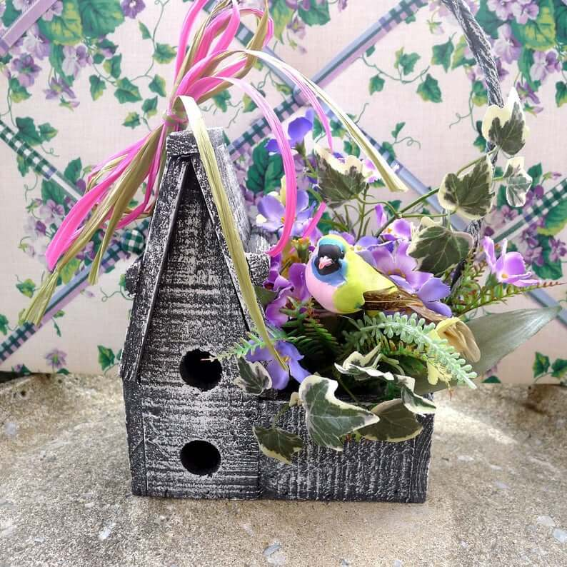 Two Story Wooden Bird House