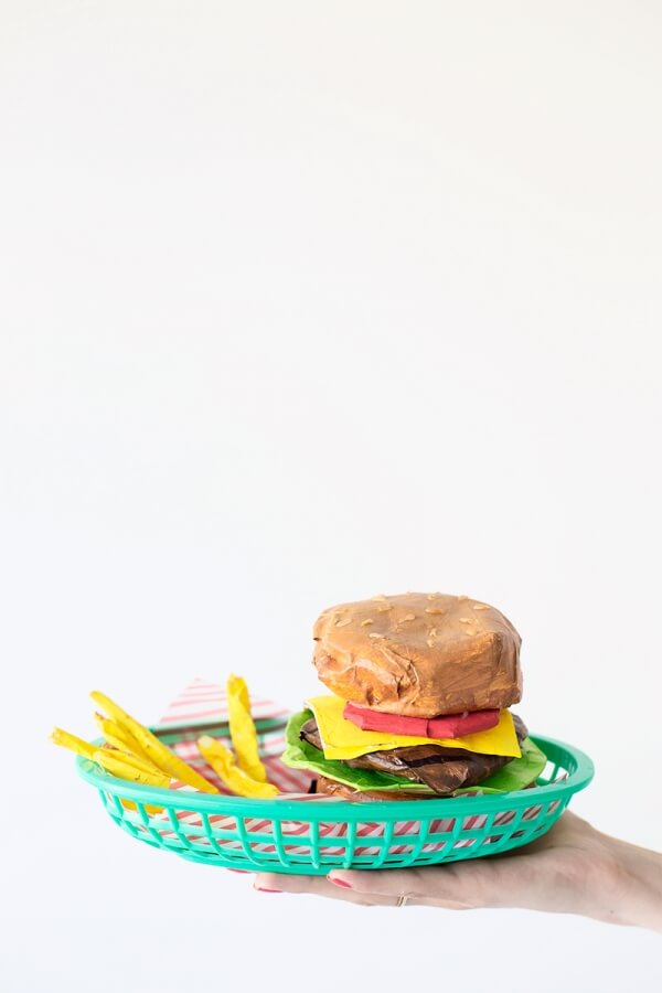 Burger & Fries Cool DIY Paper Mache