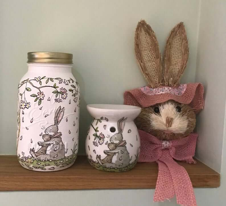 Easter Bunny Kilner Mason Jar Storage