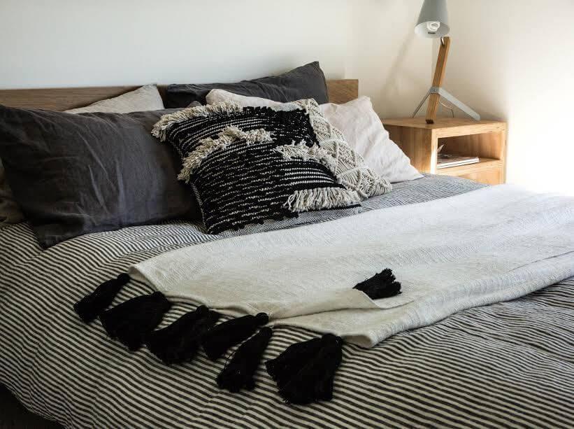 Modern Black and White Boho Home Décor