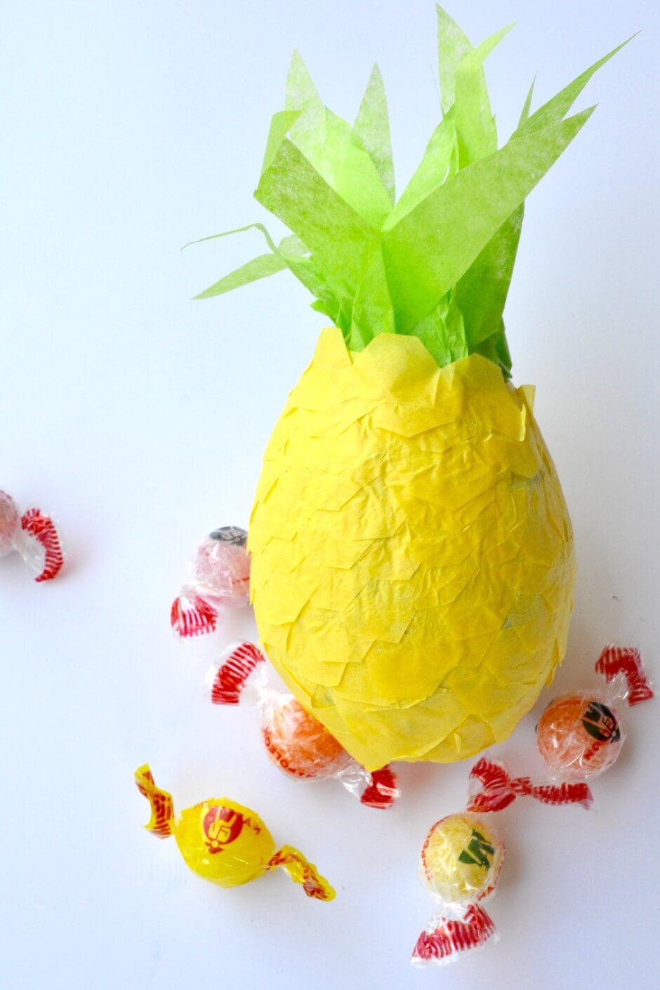 Colorful Pineapple Paper Mache Piñata