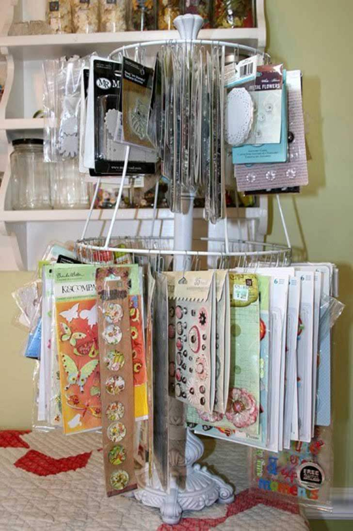 Affordable Upcycled Lamp Embellishment Stand