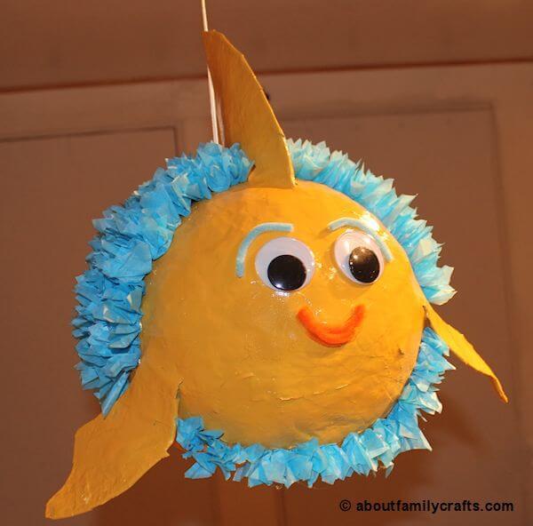 Adorable Paper Mache Piñata Fish