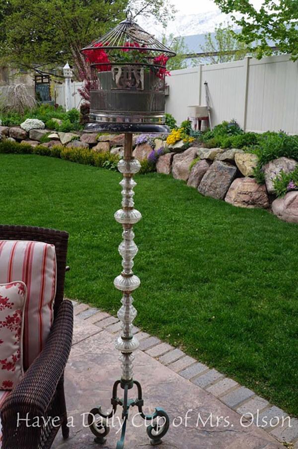 Birdcage Lamp Potted Plant Holder