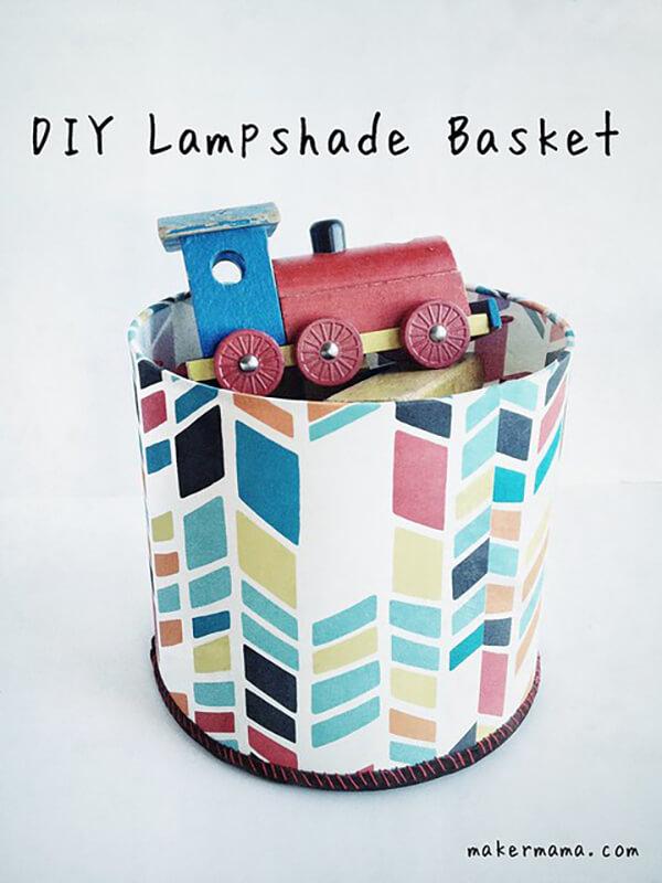 DIY Lamp Shade Toy Basket