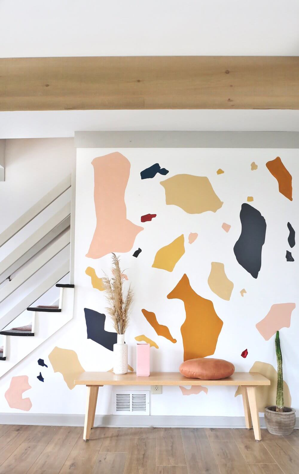 Abstract Terrazzo Muted Multi and Metallic Color Decals Mural